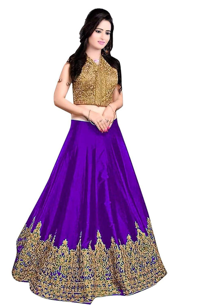 Madhav Design Minaxi Purple Color Lehenga for Women