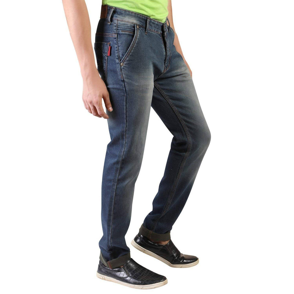 Denim Vistara Men's Green Slim Fit Jeans
