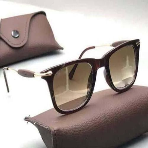 Sunglasses Brown Square Goggles For Men