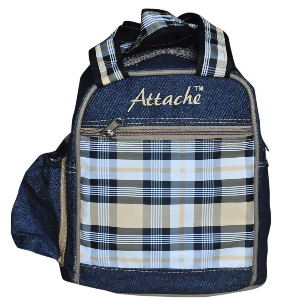 ATTACHE Blue-Brown Lunch Bag