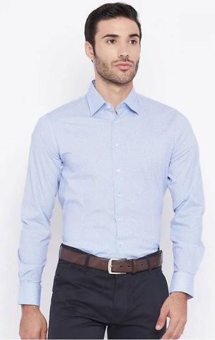 Mixtakes Blue Cotton Formal Shirt