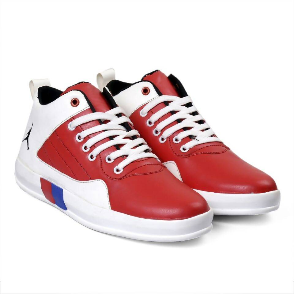 Rvy Men's White Red Casual Shoes