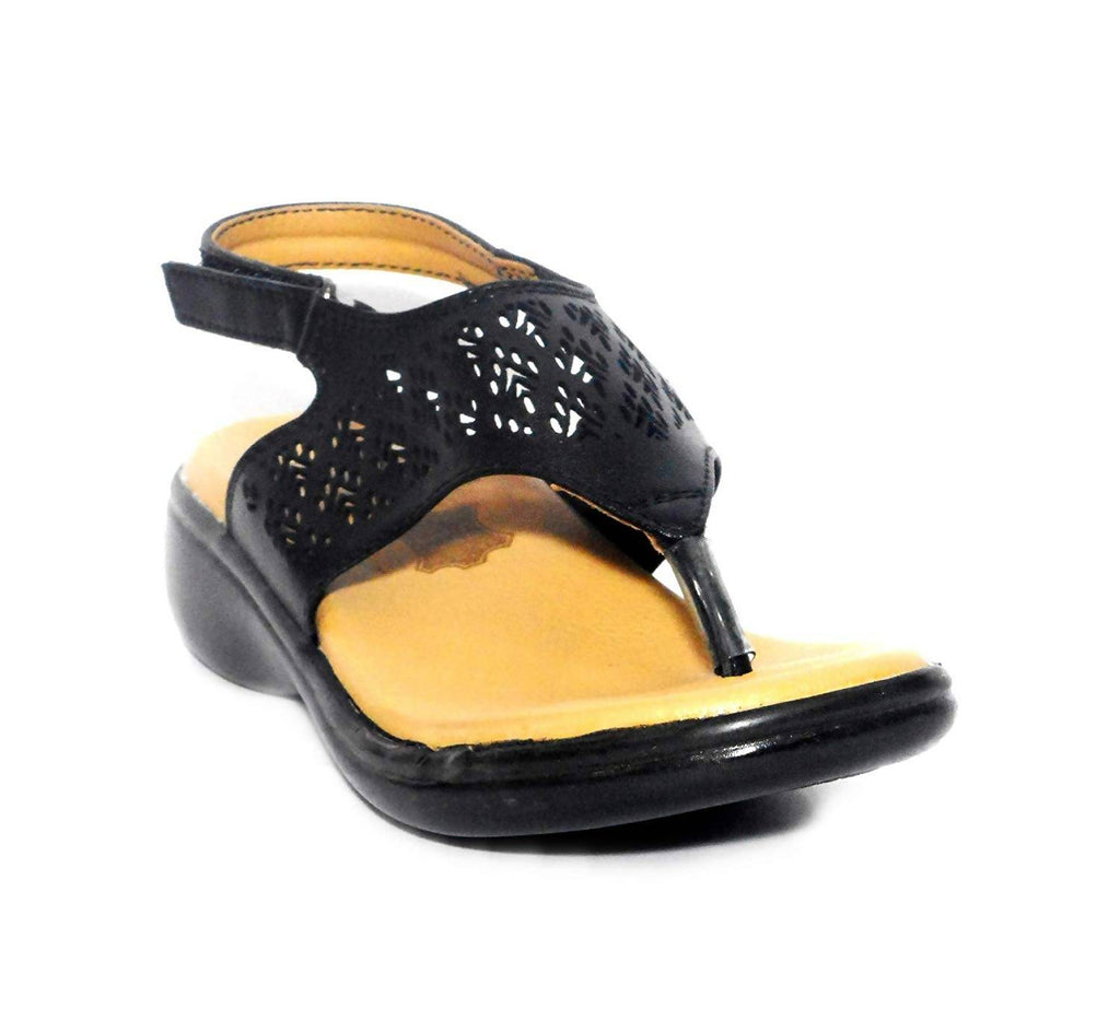 Medifeet MF 123 Women Black Casual Sandal.