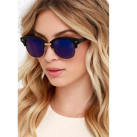 Blue Mercury Club Master Sunglasses For Women