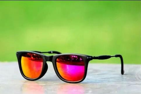 Red Mercury Square Frame Sunglasses For Men