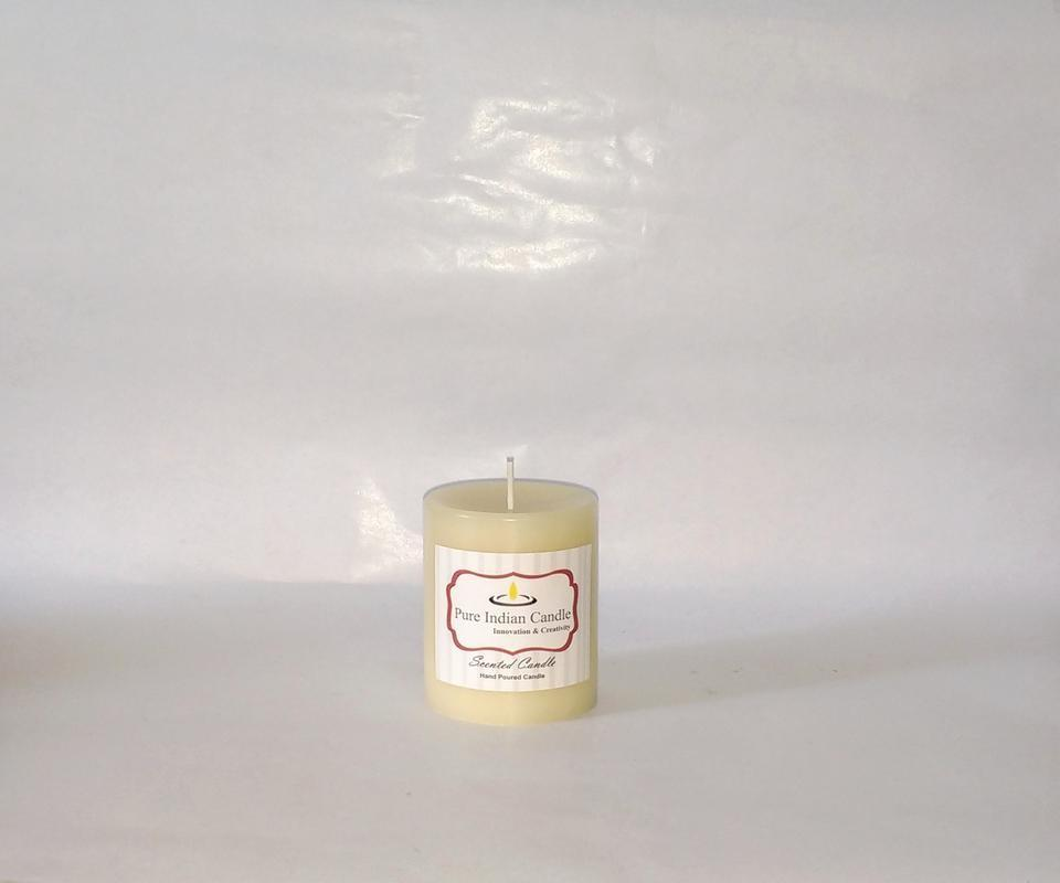 Autumn Leaves and Vanilla Handmade Scented Pillar Candle PIC006
