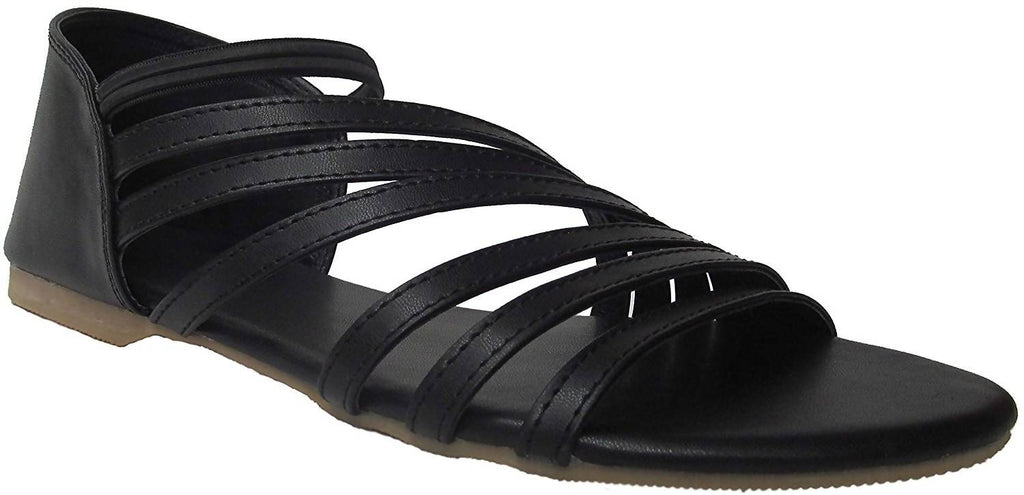 Foot Wagon Black Sandal | Black Slippers | Women Sandals | Girls Sandals | Slippers | Chappals | Flats | Slipper Women