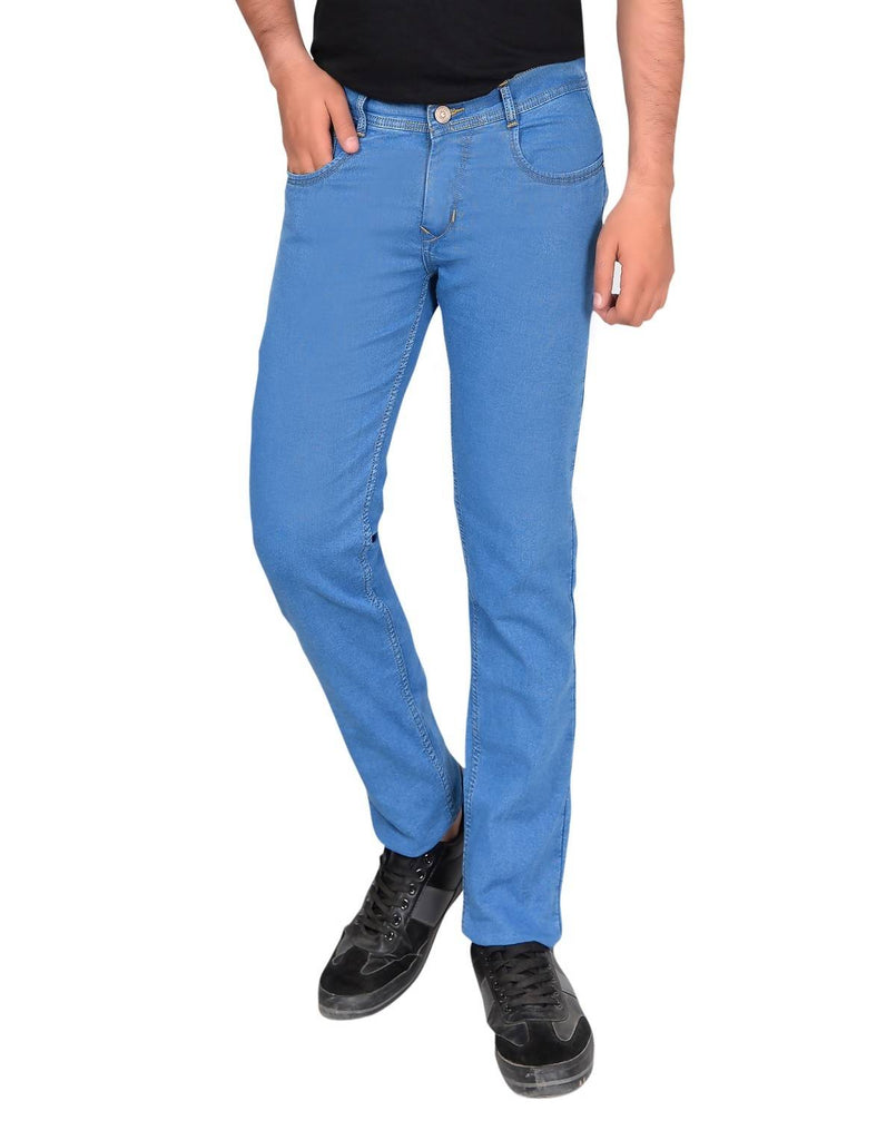 Gudlu Men's Regular Fit Blue Jeans