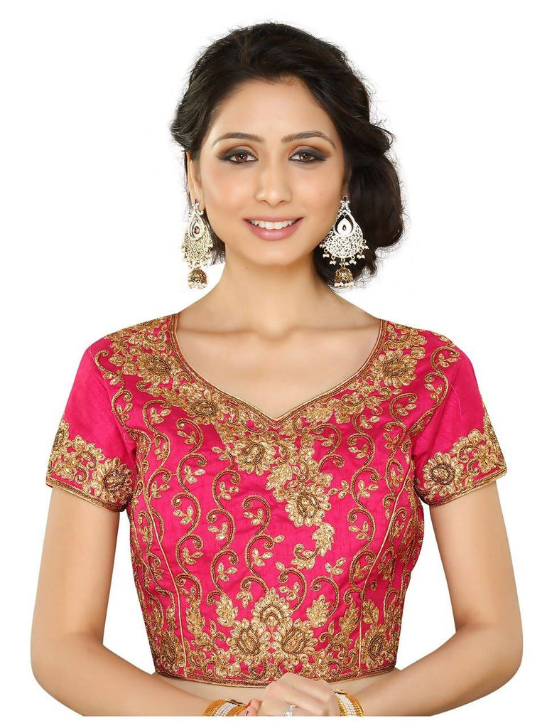 Melluha Pink Customizable Readymade Blouse