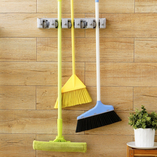 Mop & Broom Organizer Wall Mount Hanger