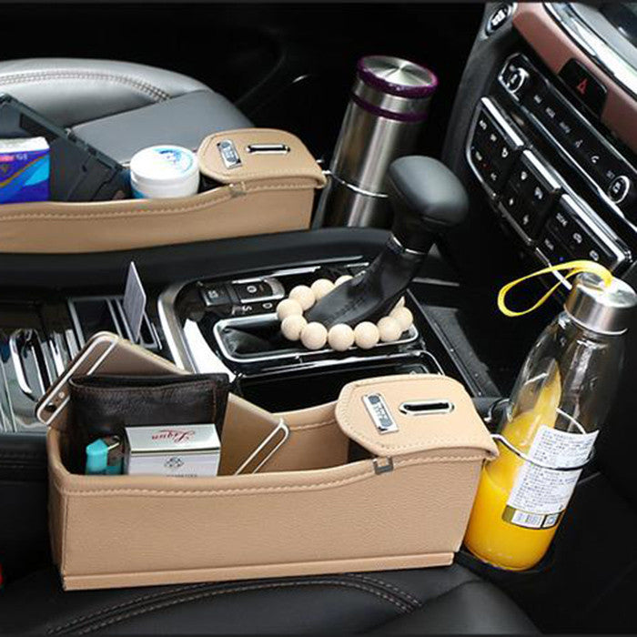 Car Seat Storage Box Organizer with Cup Holder & Coin Box – Hype ...