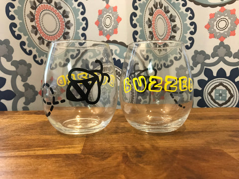 Buzzed Wine Glasses