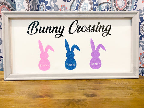 Bunny Crossing Canvas