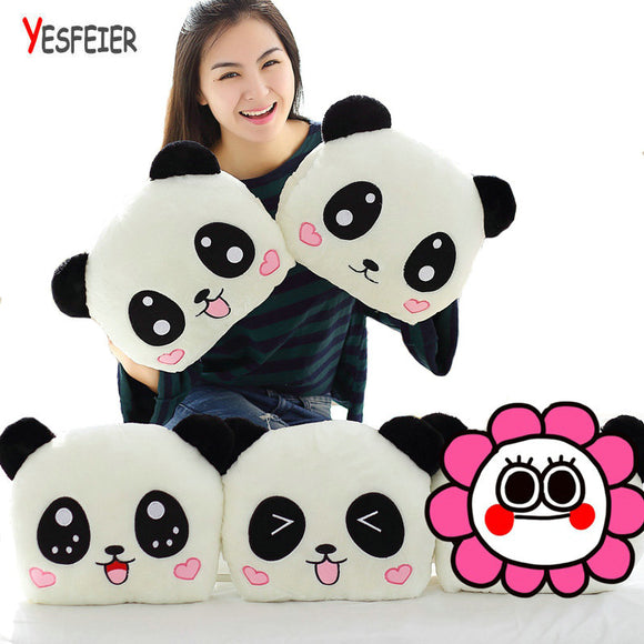 1PC 35cm Panda Bear Plush Hand Warmer Pillow Cushion Stuffed Animal