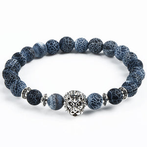 Owl Buddha beads Natural Stone Bracelets, comes also with Leopard, Lion & Tiger