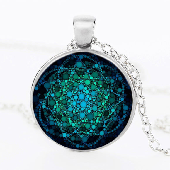 2017 New Flower of Life Yoga Chakra Pendant