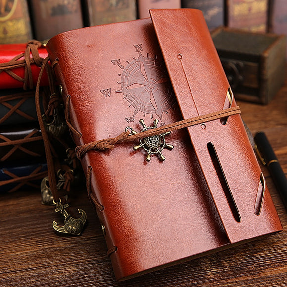 Faux Leather Cover Vintage Ancient A5 Diary Notebook
