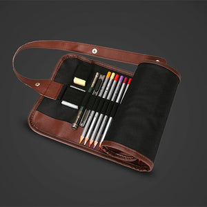 Canvas Roll up Pencil Case Pouch 36/48/72 Holes to hold your pens and pencils