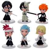 6pc/set Bleach Ichigo, Ulquiorra, cifer, Renji, Gin, Anime Action Figures