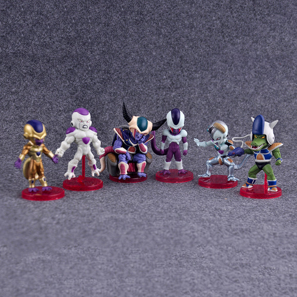 Dragon Ball Z Figures Frieza, Cooler, King Cold, Golden Frieza, Mecha Frieza & Henchmen Collectible 6pcs/set