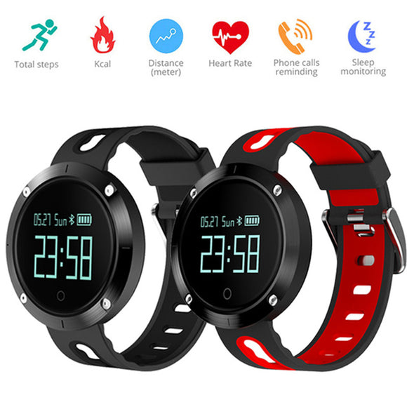 Bluetooth Sports Wristband Heart Rate Smart Watch Blood Pressure Monitor