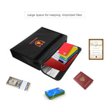 Fireproof & Water-Proof Money, Document File Bag Storage Holder
