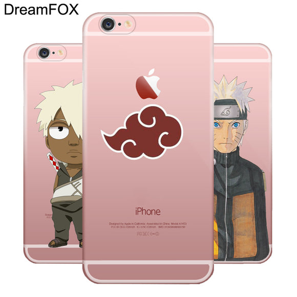 Naruto Silicone Character Case Cover For Apple iPhone X 8 7 6 6S Plus 5 5S SE 5C 4 4S