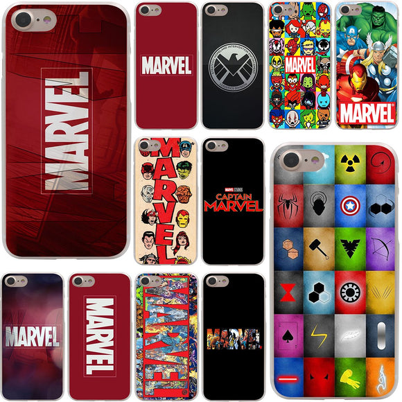 Marvel Comics logo & characters Cover Case for Apple iPhone 7 7 Plus 6 6s Plus 5 5S SE 5C 4 4S