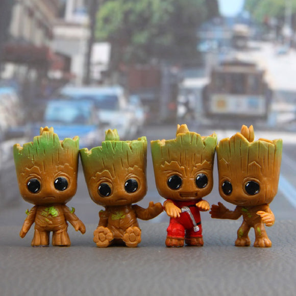 Marvel Movie Guardians Of The Galaxy 2 Groot 4pcs/set