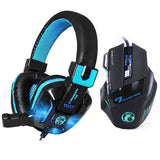 LED Light Gaming Headphone with Microphones Headset & Gaming Mouse
