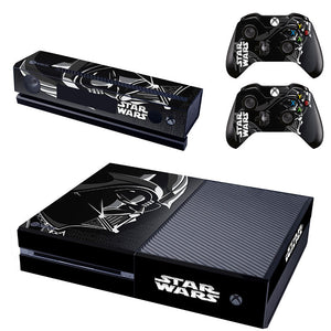 Star Wars Darth VaderSkin Sticker for Microsof Xbox one Console & 2 Controller Kinect Skins