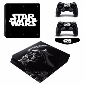 Star Wars Skin Sticker for Sony PlayStation 4 Slim Console & 2 Controllers Skins S