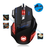 T80 USB 7200DPI Wired Optical Backlight Gaming Mouse Support