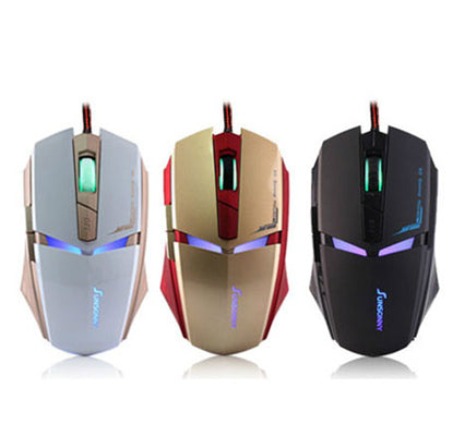 Iron Man LED USB Wired Gaming Mouse