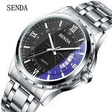 2017 Luxury brand Men's stainless steel Quartz Watch
