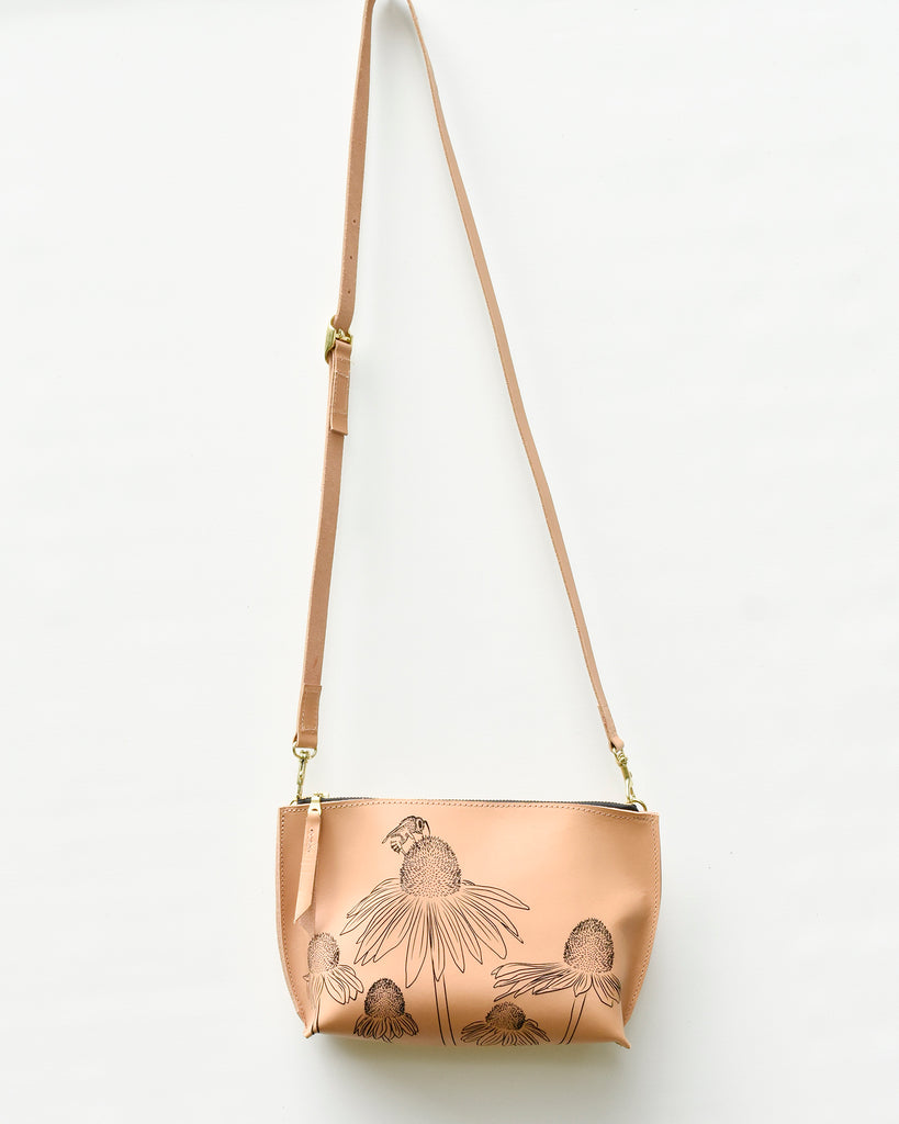 Busy Bee Everyday Leather Zip Cross-body