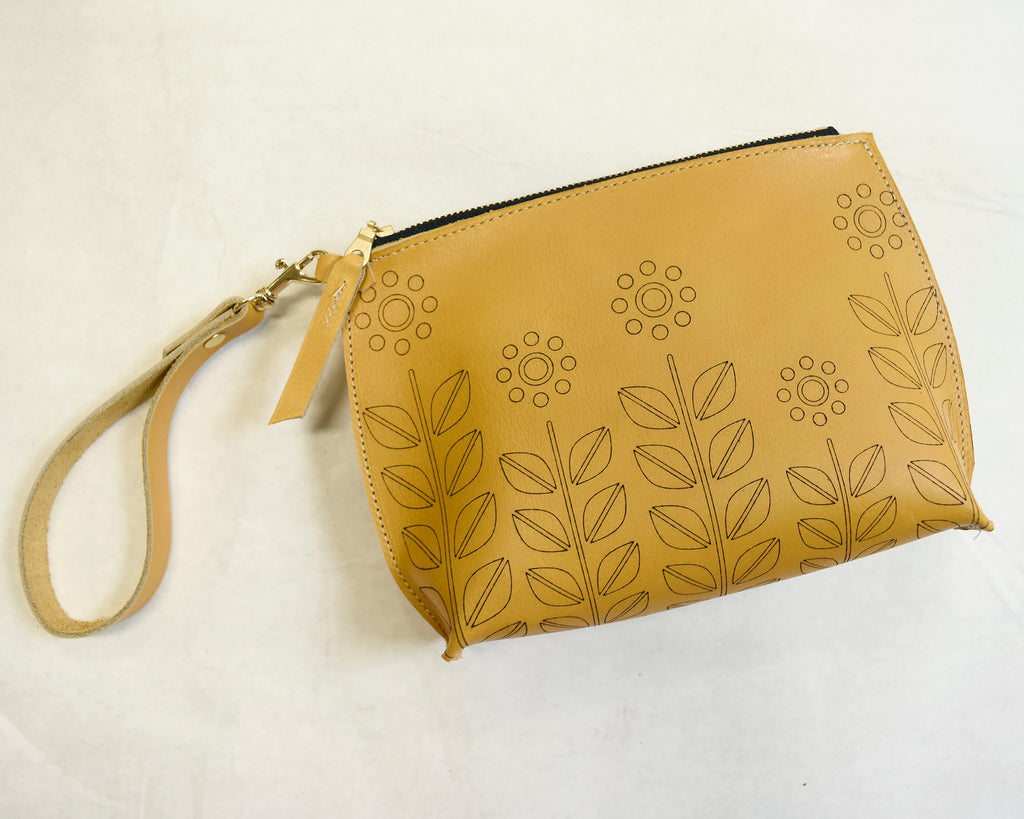 Geo Flower Everyday Wristlet