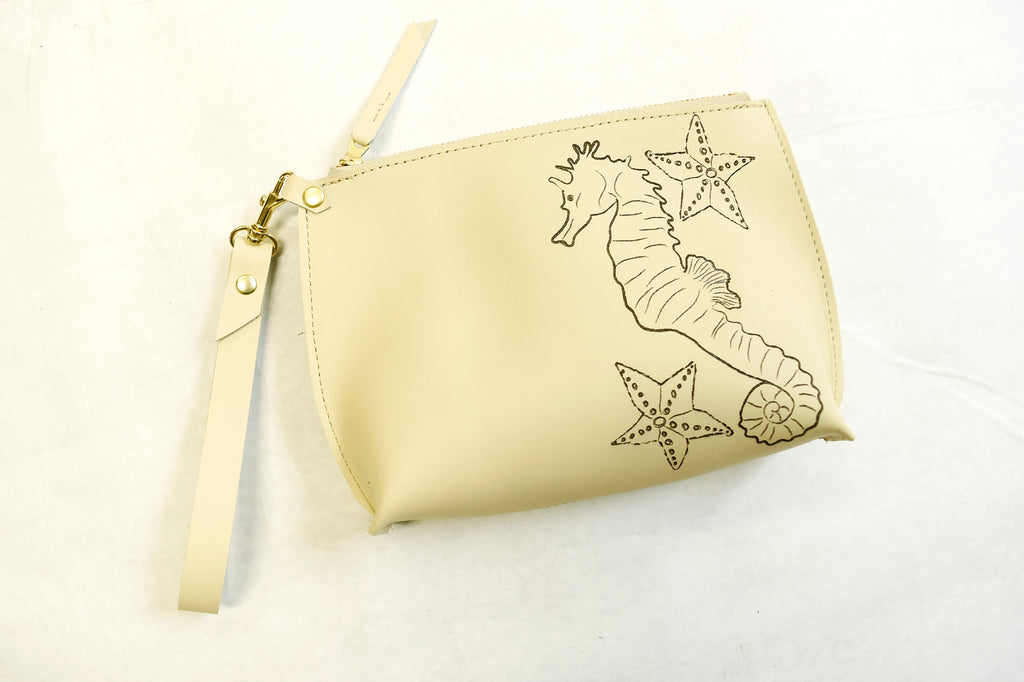 Sea Horse Everyday Wristlet