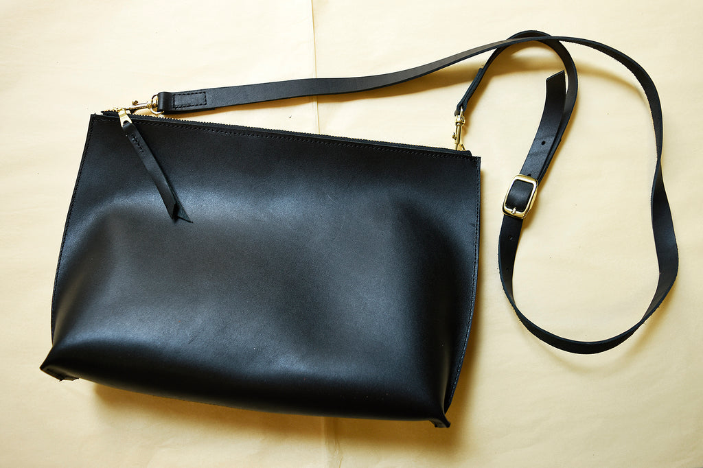 Large Everyday Zippered Crossbody, Genuine Leather Crossbody bag