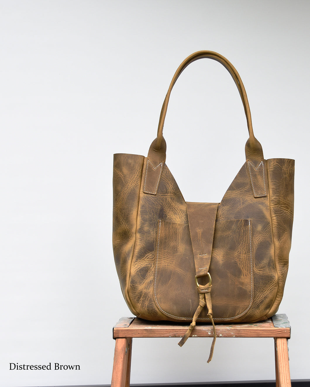 Lucy Leather Hobo Tote