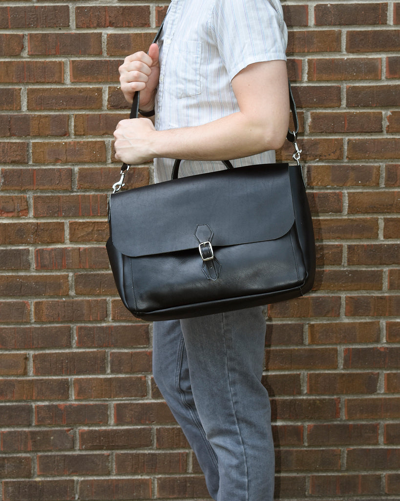 Emerson Leather Messenger Bag
