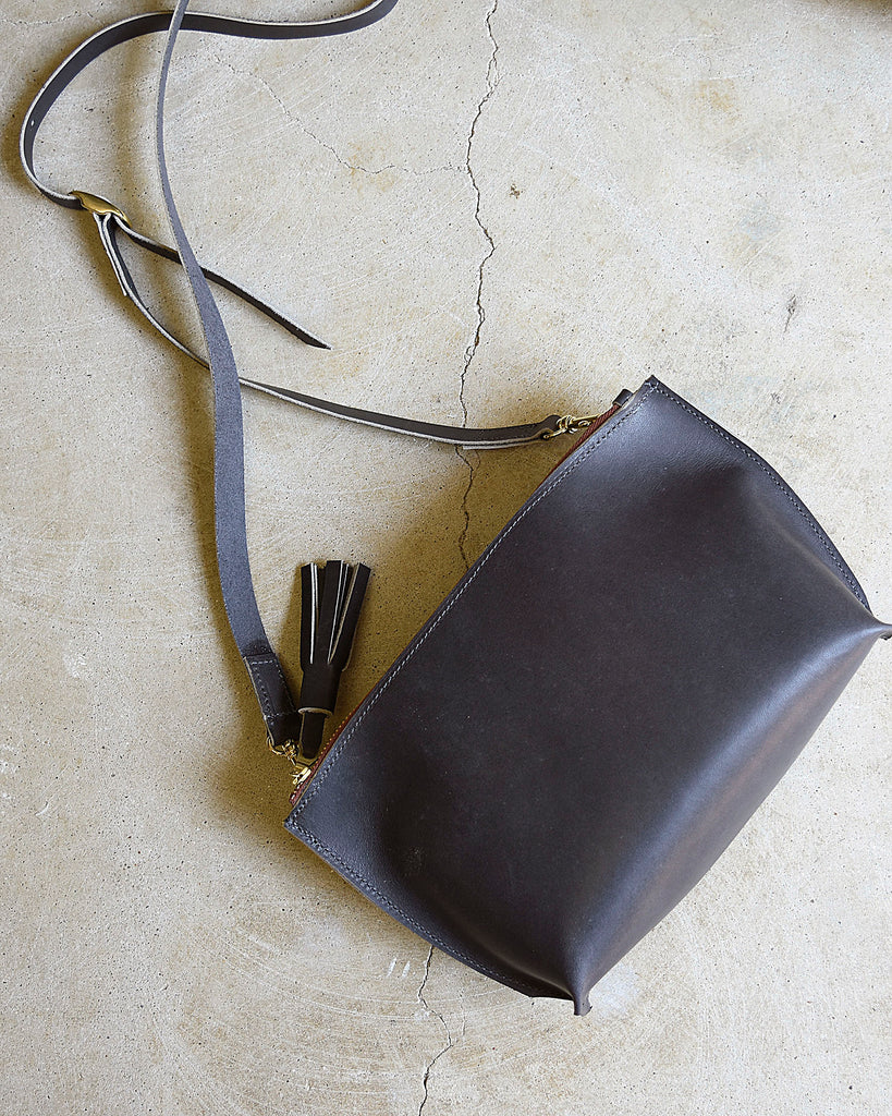 Everyday Leather Zip Cross-body / Leather Purse / Leather Crossbody Bag