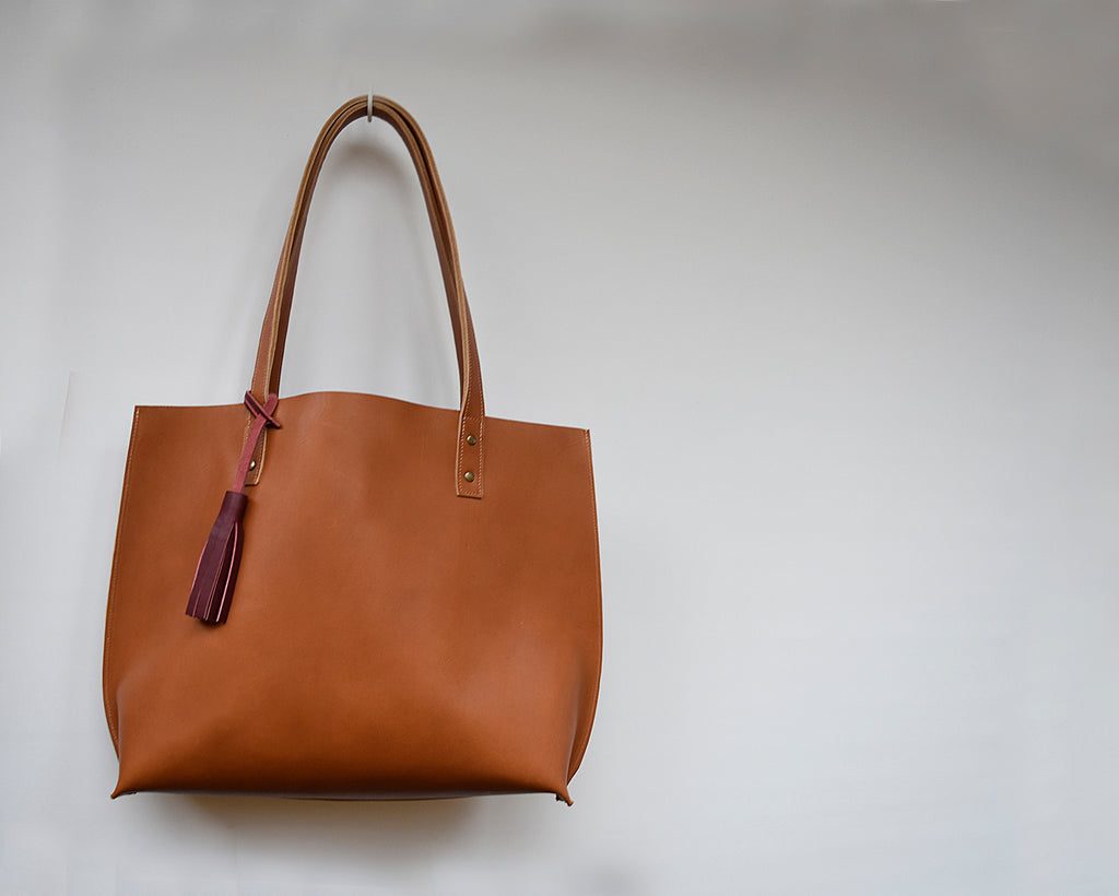Diari Large Leather Tote Bag / Leather tote
