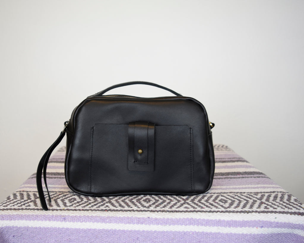 SALE - Binnie Small Leather Satchel