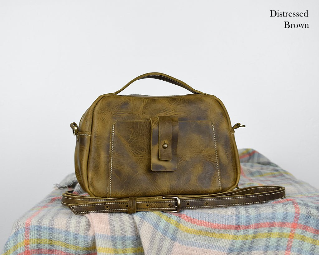 Binnie Small Leather Satchel