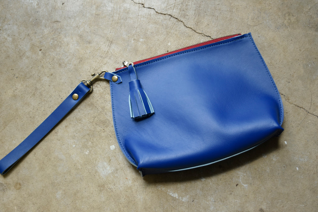 Everyday Leather Wristlet Clutch