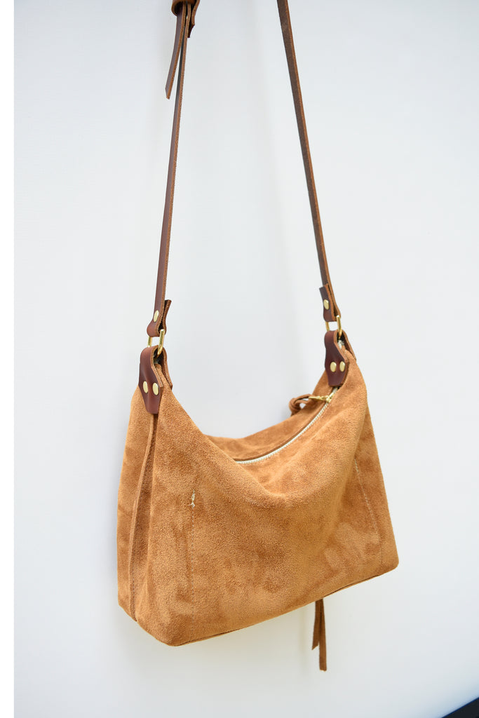 Zoey Suede Crossbody Purse