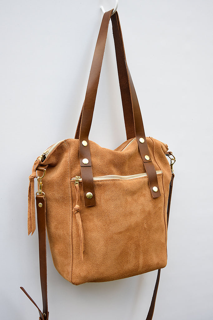 Zelda Leather Suede Tote