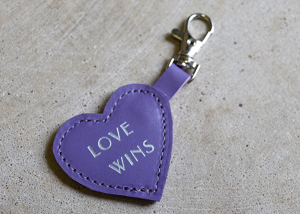 Conversation Heart Key Chain