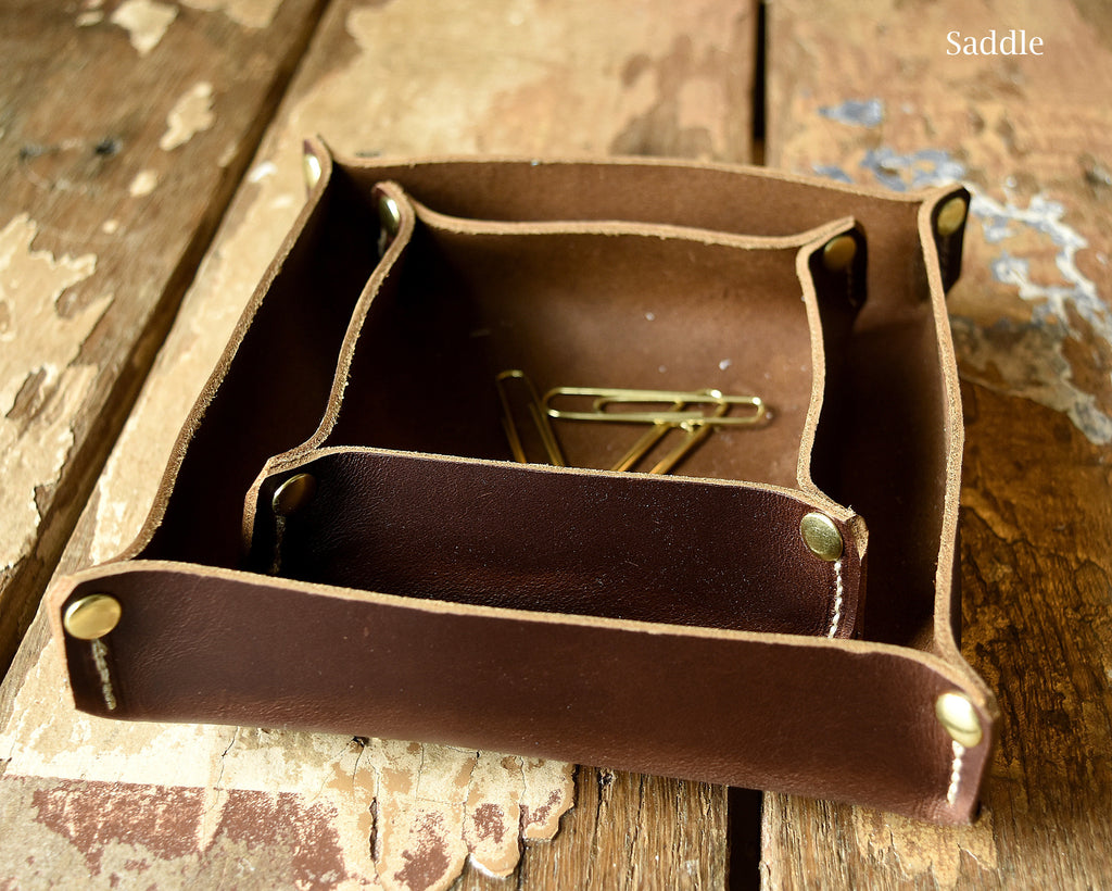 Leather Organizer Trays / Valet Trays